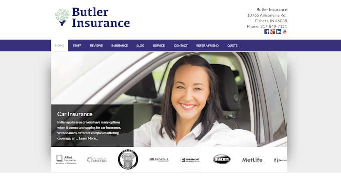 Butler Insurance Website